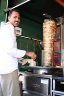 At the kebab stall, Ajlun, Jordan