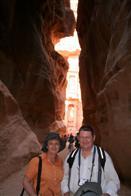 Maureen & Mike at Petra in Jordan